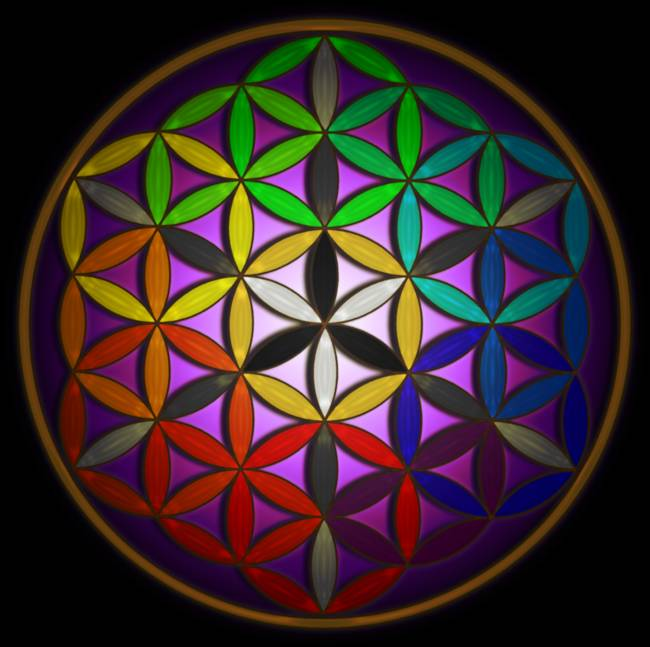 Full Spectrum Flower of Life art