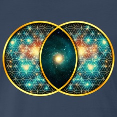 Vesica Piscis Galaxy Sacred Geometry Mathematics T Shirts